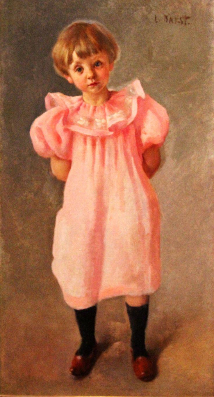 Бакст Лев. 1866-1924 Ребенок в розовом. Около 1910 Холст, масло. Из корпоративной коллекции Белгазпромбанка