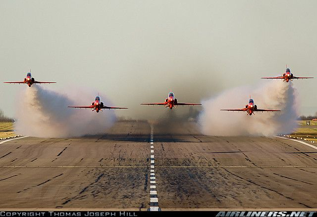 The Red Arrows (by Thomas Joseph Hill).