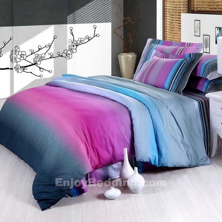 teal and purple bed in a bag | Blue and Purple Bedding Sets - EnjoyBedding.com