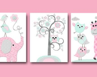Art for nursery giraffe nursery decor baby gift by HappyNurseryArt