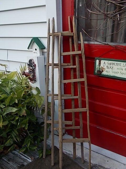 Tobacco Stick Ladder Primitive Decor Country by EightBoardsFarm