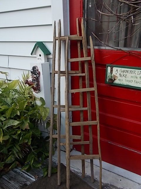 Tobacco Stick Ladder Primitive Decor Country by EightBoardsFarm