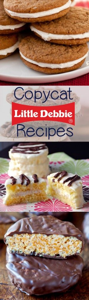 Little Debbie Copycat Recipes - make all of your favorite Little Debbie cakes at home!