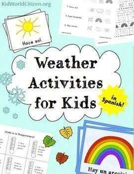 weather activities for kids spanish seasons temperature 2 weather minibooks temperature. Black Bedroom Furniture Sets. Home Design Ideas