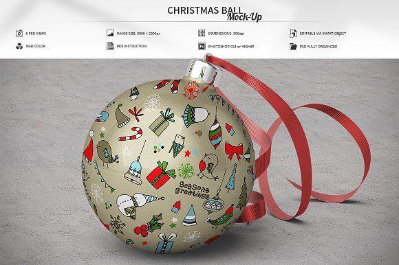 Christmas Ball Mock Up Mockup Free Psd Christmas Balls Mockup