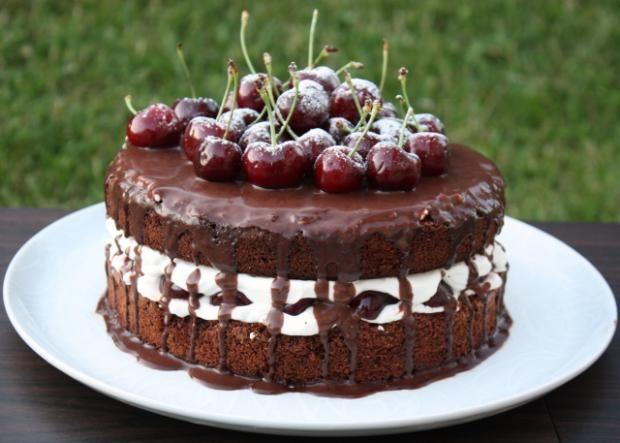 Extra čokoládová torta s čerešňami - recept