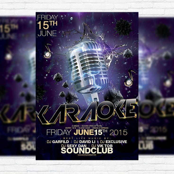 Karaoke Night Flyer Template By Ciusan On Creative Market  Best