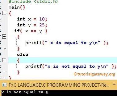 Relational Operator in C Programming