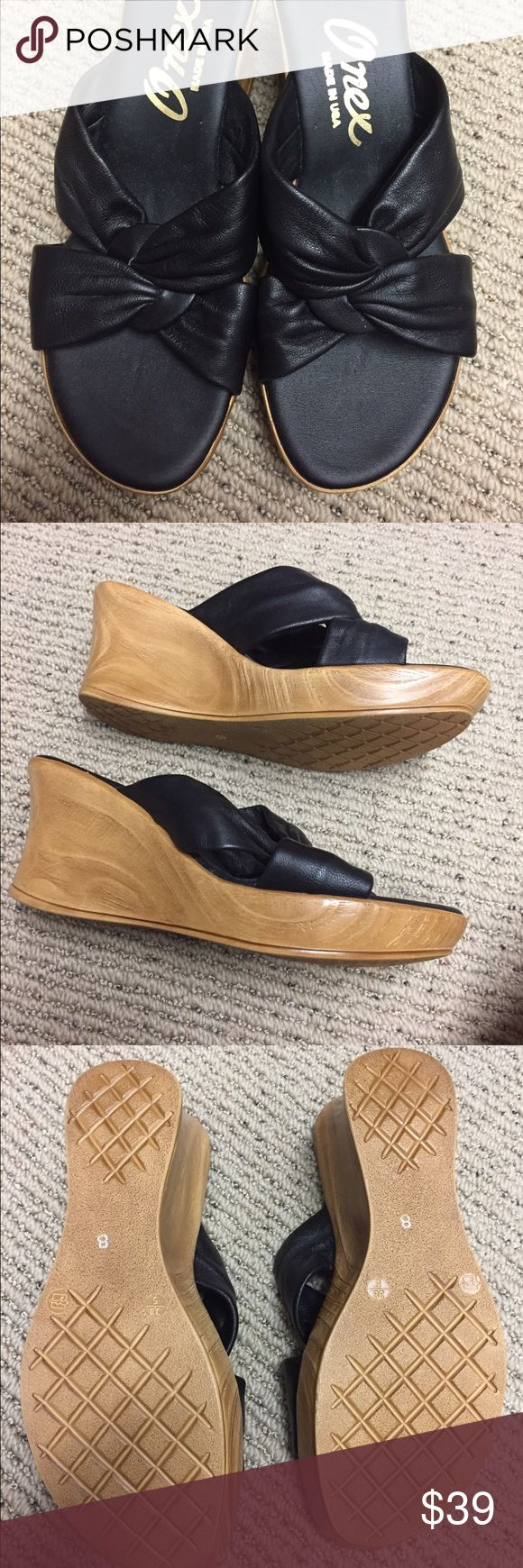 Onex Black and Tan Wedges Onex Black and Tan Wedges worn once size 8 onex Shoes Wedges