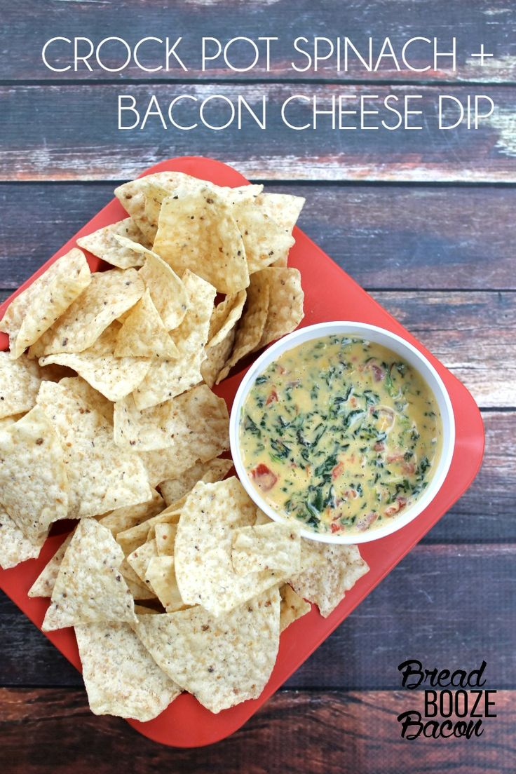 You'll never need another queso dip recipe again after you try one bite of Crock Pot Spinach and Bacon Cheese Dip!