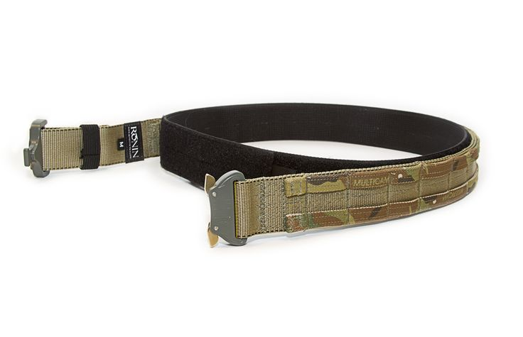 Ronin Tactics Shooter's Belt - 2 layer combination ensures a secure shooting platform by applying a comfortable inner Velcro webbing belt with an outer tactical load-bearing belt.