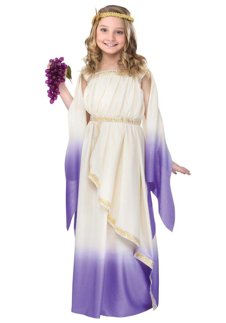 halloween costumes for girls   Girls Purple Goddess Costume