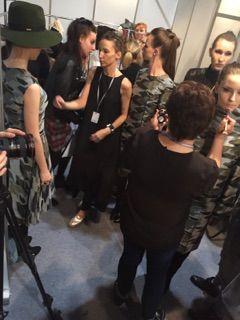 Modelove fashion show backstage.