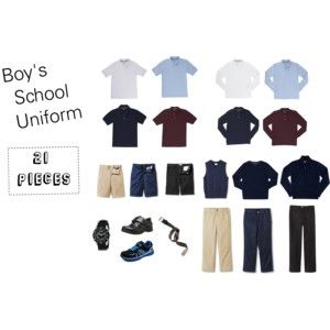 Boys School Uniform for my first grader. 21 Pieces + socks and jacket. Includes shopping details for each piece.