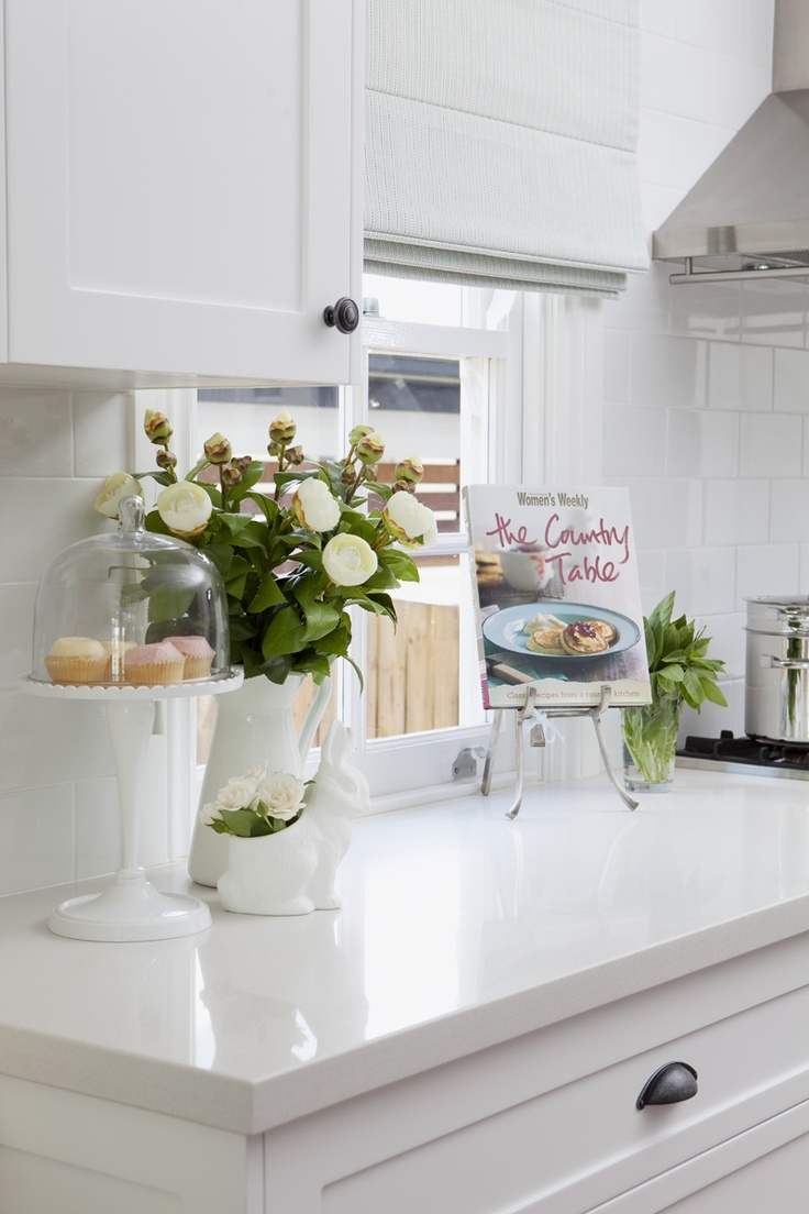 Bright White Kitchen with White Countertops - The House that A-M Built