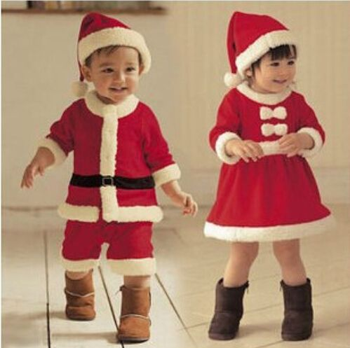 >> Click to Buy << XH-045 2016 boy and girl suit 2 piece bebe suits fleece lining outfits newborn babies christmas new year clothes kids clothes #Affiliate