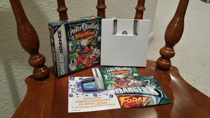 Power Ranger Wild Force Gameboy Advance CASE MANUAL ONLY