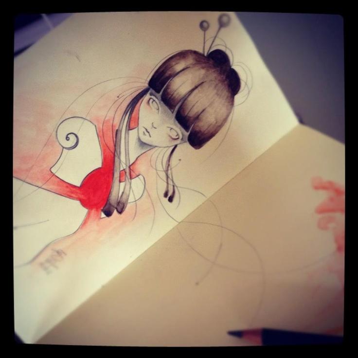 Erica Calardo's Moleskine  http://www.popandbaroque.com  http://www.facebook.com/erica.calardo.art