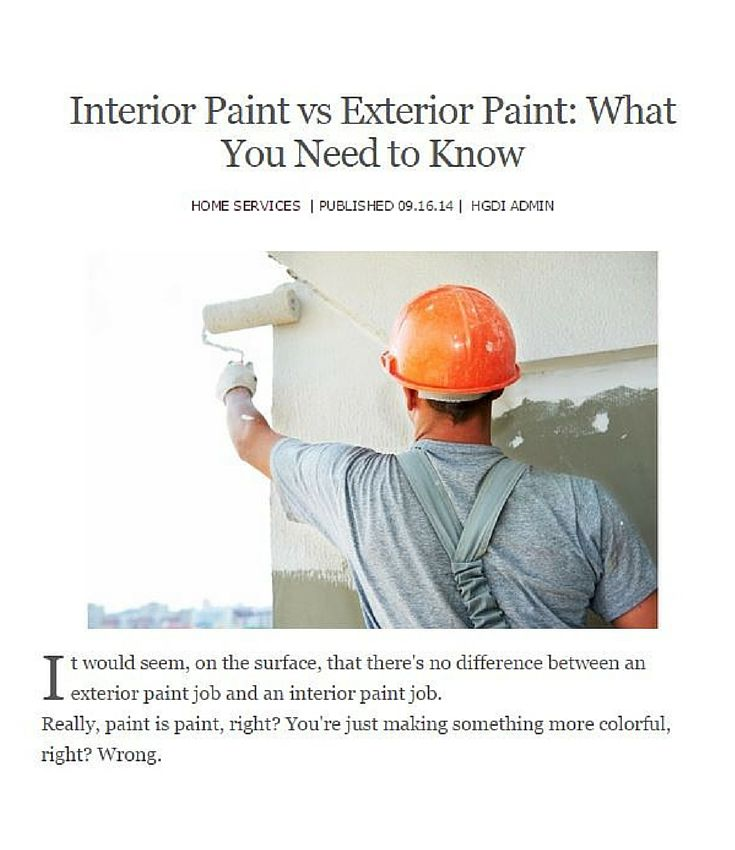 difference between exterior interior paint. it would seem, on the surface, that there\u0027s no difference between an exterior paint interior