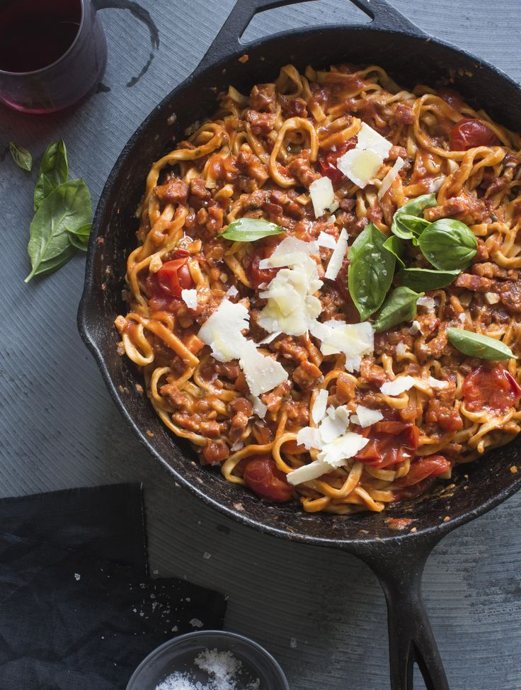 Spaghetti all'Amatriciana. This might just look like another tomato-based pasta, but holy heck - it has such an amazing flavour! You can find this recipe in Homemade Happiness - you can buy your own signed copy by clicking on the image (New Zealand residents only sorry).