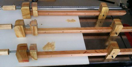 Homemade clamps from wood