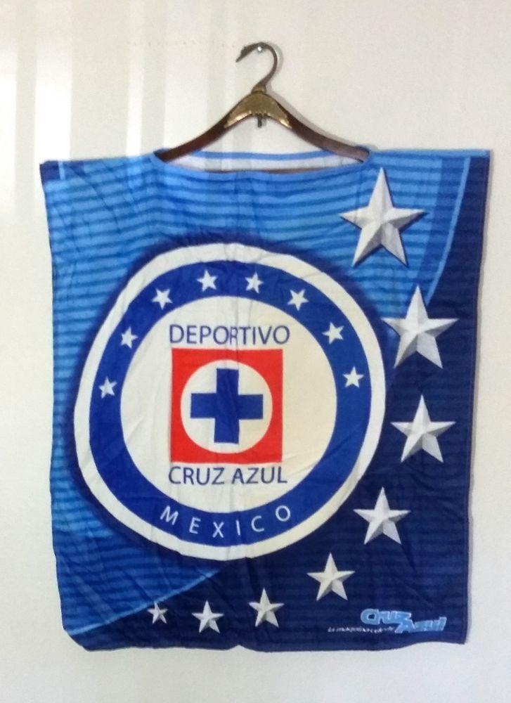 Poncho Adulto Deportivo Cruz Azul Mexico #COLAP