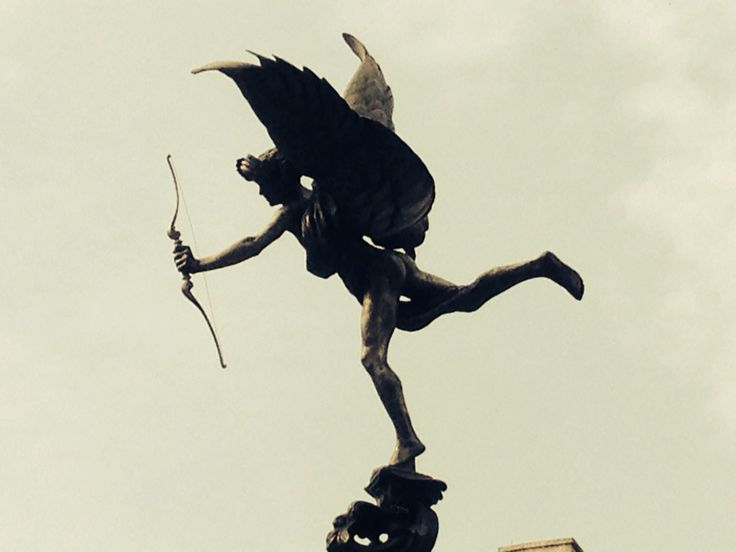 Statue of Eros, Piccadilly Circus.  Ph. Me