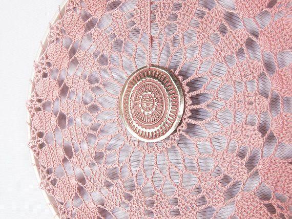 Rosa Dream Catcher ganchillo tapete Dreamcatcher ceniza rosa