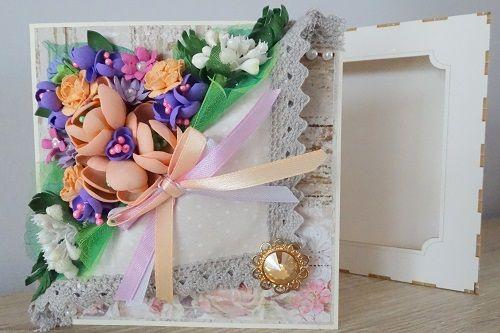 Kartka na Dzień Matki z kwiatami z foamiranu. Tak inspiruje Ania z naszego DT!