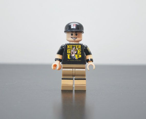 Custom Minifigures JOHN CENA WWE Wrestling Superstar by MiniMenCo, $28.99