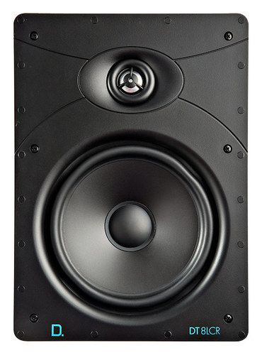 "Definitive Technology - DT Series 8"" 2-Way In-Wall Speaker (Each) - Black"
