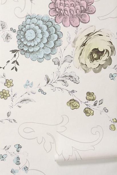 96 best images about botanical floral on pinterest for Anthropologie mural wallpaper