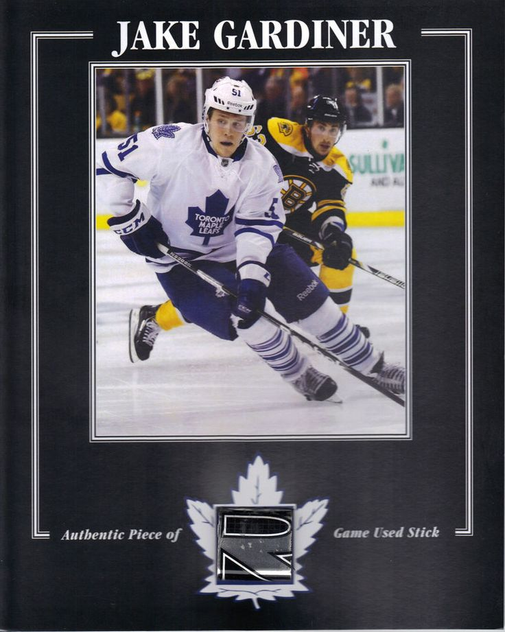 jake gardiner toronto maple leafs game used stick 8 x 10 coa from $24.99