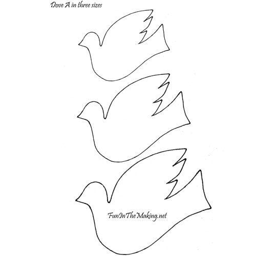 view of dove A stencil