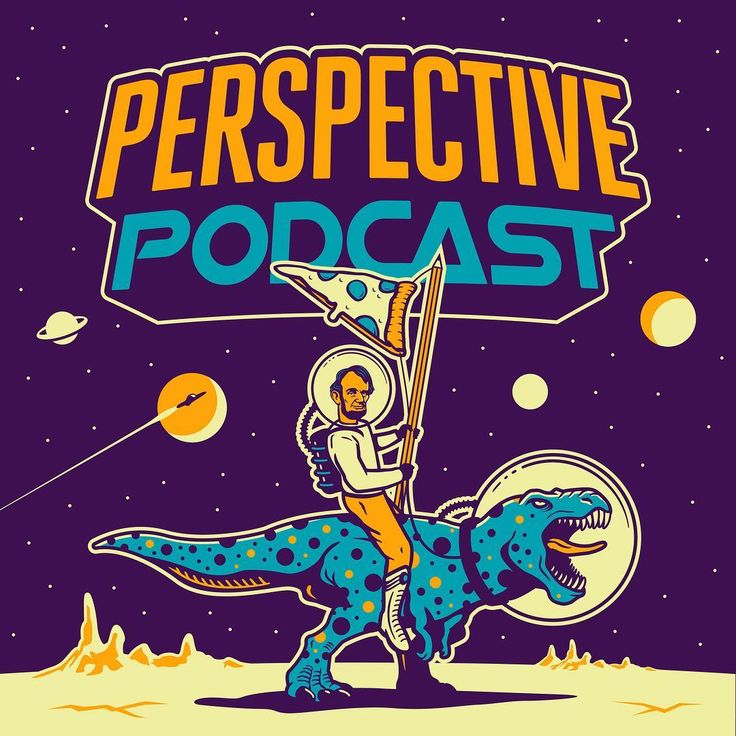 Podcastlogo Design: This Abe Trex Outer Space Illustration Is The Perspective