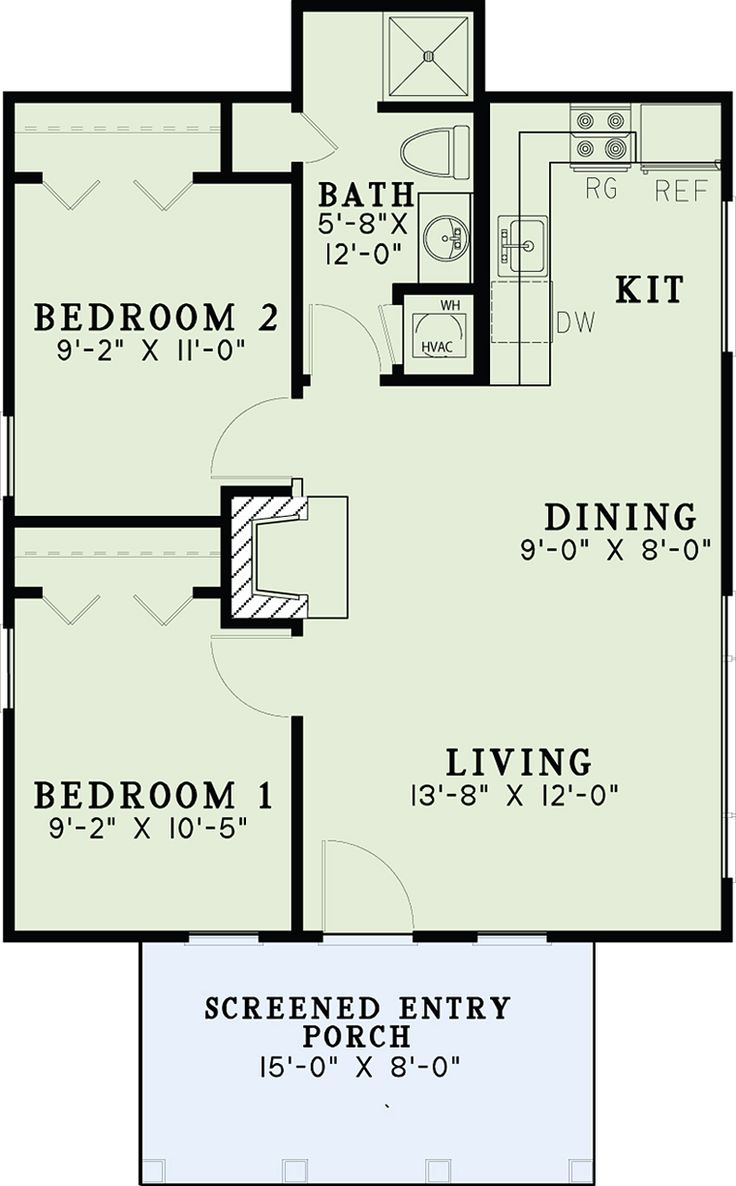 Cabin Ranch Traditional Level One of Plan 82343