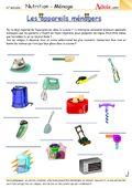Jeux - Quiz - Fiches pédagogiques | Nutrition et Ménage