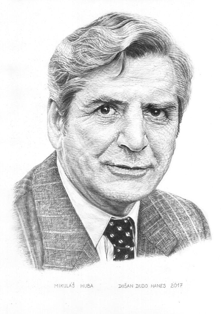 Mikuláš Huba, portrét Dušan Dudo Hanes