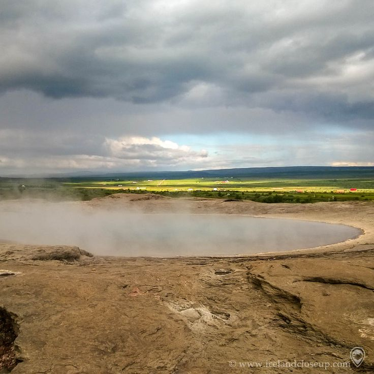 """Geysir in Haukadalur, one of the must-see places in Iceland. It used to be really active and the water could gush up to 60 to 80 meters, but now it has completely stopped. Strokkur which is the second biggest geyser has taken over as the main attraction now. The English word """"geyser"""" is actually named after """"Geysir"""".  Save if you think this area is amazing!  #nature #geysir #geyser"""