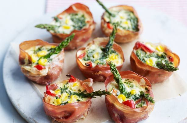 Mini Parma ham vegetable tarts are wrapped with ham rather than the usual pastry and make tasty little snacks or party nibbles to share. These tarts are naturally gluten free, so it means everyone can enjoy them - plus, they make a change from traditional tartlets that are quick and easy to make.