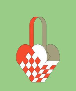Christmas Heart baskets - baskets of different widths etc