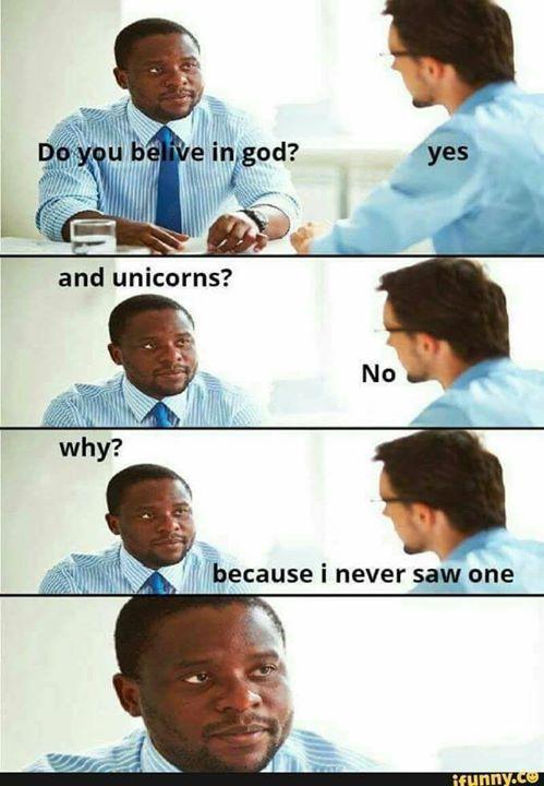 Unicorns do exist. It says so in Harry Potter. #atheist #atheism #religion