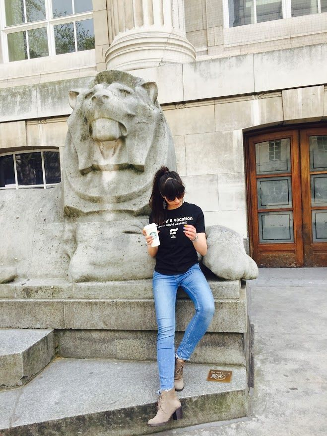 Stradivarius jeans/Bershka funny t-shirt/British Museum/London