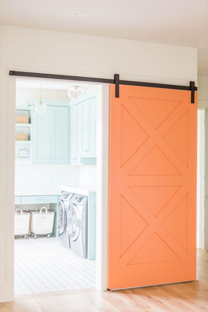 189 best doors images on pinterest blog designs sliding for Barn door ideas for laundry room