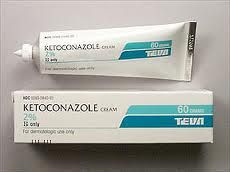 #KETOCONAZOLE cream is used to treat tinea corporis and yeast infections of the skin. It is used to control flaking, scaling, and itching of the scalp caused by dandruff.   http://secure.adv-care.com/cgi-bin/ncommerce3/ExecMacro/rxsearch.d2w/report?ProductName=KETOCONAZOLE&GenericName=KETOCONAZOLE&res=US&ipnumber=US