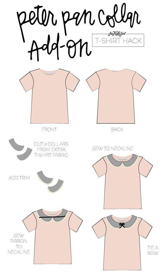 Peter Pan Collar Add-On | TSHIRT HACK