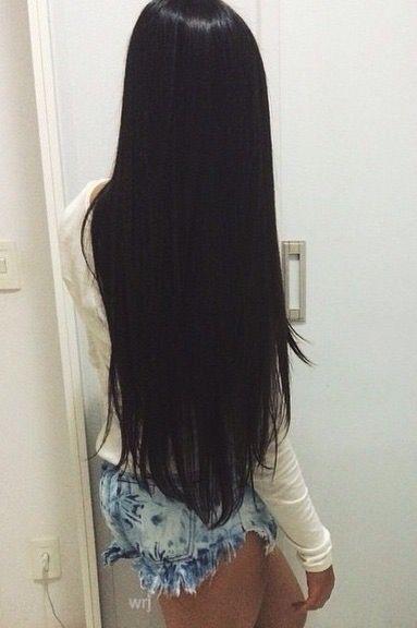 Cabelo preto, longo, liso e lindo!
