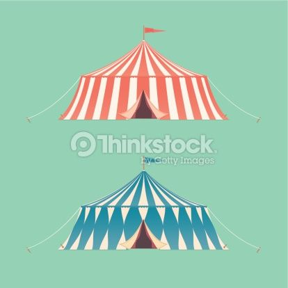 Vector Art : Two Vintage Circus Tents