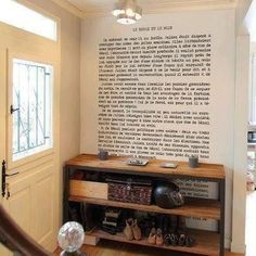 Walk by your favorite passage from your favorite book every day | Community Post: 30 Totally Unique Ways To Decorate Your Home With Books