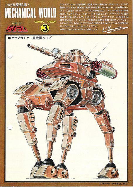 "(Fang of the Sun) Dougram - 1:72 Abitate F44C ""Firegunner"" (Original Takara Artwork) by dizzyfugu, via Flickr"